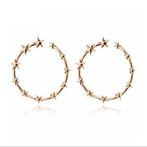 Gold Spiked Star Earrings